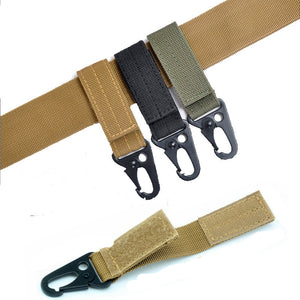molle attach belt clip webbing backpack strap Quickdraw clasp outdoor kit Carabiner camp tactical travel bag hike bushcraft