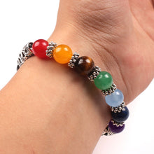 Load image into Gallery viewer, Men Women 7 Chakra energy Bracelets Bangles Colors Mixed Healing Crystals Stone Chakra