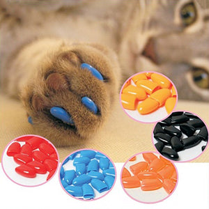 20Pcs Soft Pet Dog Cats Kitten Paw Claws Control Nail Caps Covers Pet Accessories - moonaro