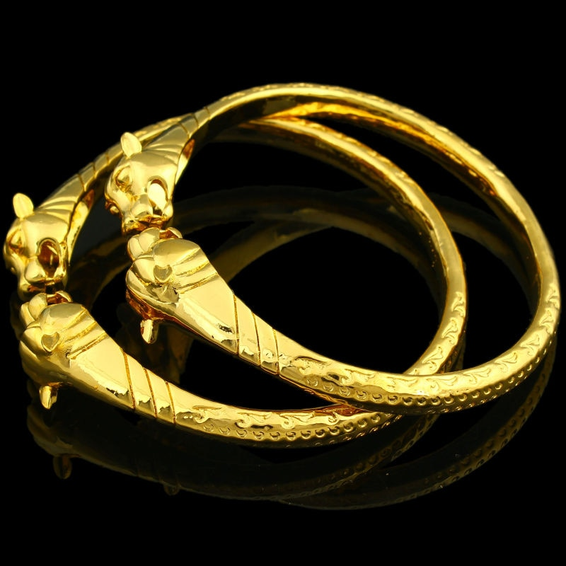 Dragon Bangles for Women Men Gold Color Bangle Bracelet  Jewelry