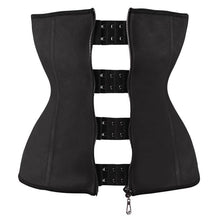 Load image into Gallery viewer, Hook Zipper Rubber Latex Waist Trainer Sexy Corsets and Bustiers Waist Cincher Corset Tops Slimming Shapewear