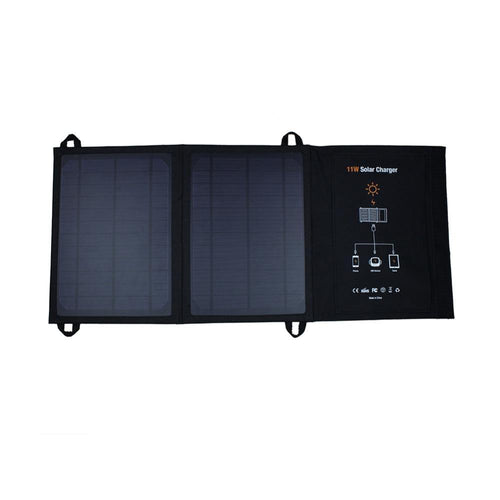 Foldable 11W Solar Charger with Dual USB ports Power Bank Outdoor Portable Solar Panel Charger for Cell Phone Mobile Phone MP3
