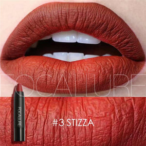 19 Colors Matte Lipsticks Waterproof Matte Lipstick Lip Sticks Cosmetic Easy to Wear Lipstick - moonaro