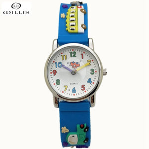 Time Teacher Little Boys Children's First Wrist Kids Watches Cartoon Character 3D Cars Children's watches for boys