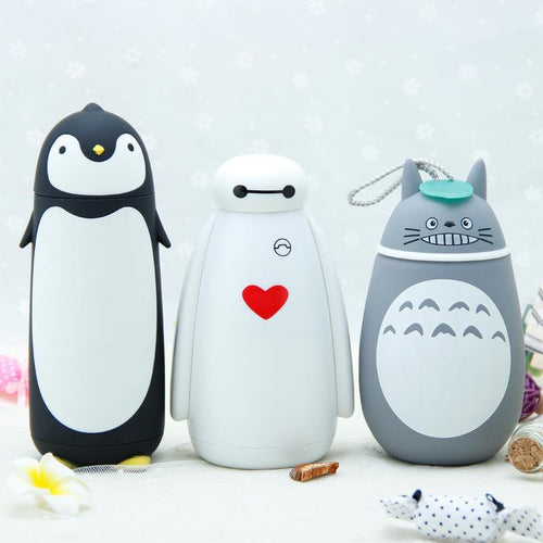 Stainless Steel Thermos Mug With Fashion Cartoon Style Hot Selling Vacuum  Cup Portable for Baymax,Penguin,Totoro