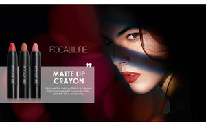 FOCALLURE Matte Lipstick 19 Colors Waterproof Long-lasting Easy to Wear Maquiagem Profesional Lipstick Nude Lips - moonaro