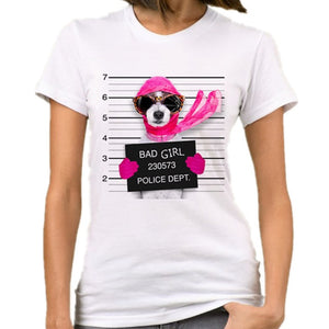 Very Bad Dog  Funny Print Tee Tops  Short Sleeve Female T Shirt Casual  Femme Clothes