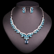 Load image into Gallery viewer, Fashion Crystal Bridal Jewelry Sets for Bride Necklace Earrings Wedding Party Costume Jewellery Set Accessories Decoration Women - moonaro
