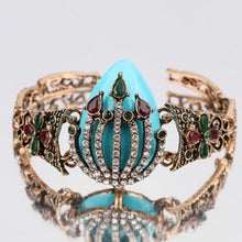 Load image into Gallery viewer, Vintage  Bracelet For Women Color Ancient Gold Mosaic White Crystal Turkish Jewelry Gift