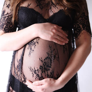 maternity Sexy Lace Floral pregnancy dress photography clothes for pregnant women
