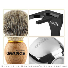 Load image into Gallery viewer, Barber Shaving Brush Badger Hair+Black Acrylic Stand+bowl+Soap Set - moonaro