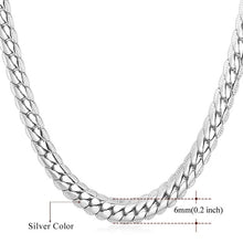 Load image into Gallery viewer, Necklace Choker/Long 9MM/6MM Vintage Punk Black/Silver/Gold Color Miami Chain Hip Hop Chain Gift For Women/Men Jewelry