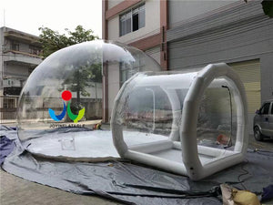 free shipping 6X8M Inflatable Transparent Camping Bubble Globe Tent For Outdoor Show House - moonaro