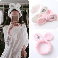 Load image into Gallery viewer, New Fashion Women Cute Big Ears Comfortable Wash Face Bathe Hair Holder Elastic Headband Girls Hairbands Hair Accessories