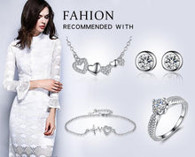 Load image into Gallery viewer, Unique Design Women Girls Wedding Bridesmaid Infinity Jewelry Set Crystal 8 Shape Earrings&Necklace Pendant for Women