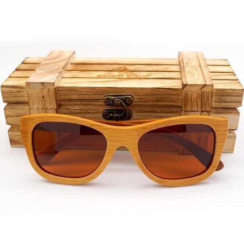 Handmade Men women Wood Sunglasses Wooden Eyewear Bamboo sport Glasses With Wood Box