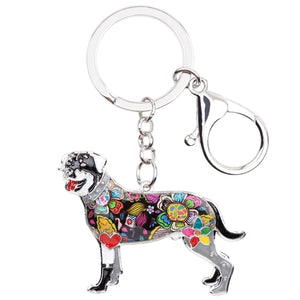 Rottweiler Dog Key Chain Key Ring Souvenir Gift For Women Bag Charm Fashion Animal Jewelry Keychain Accessories