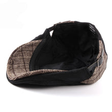 Load image into Gallery viewer, Autumn Winter Hat Beret Warm Wool Felt Cabbie Driver Flat Ivy Cap Black Brown Patchwork Men Beret Cap - moonaro