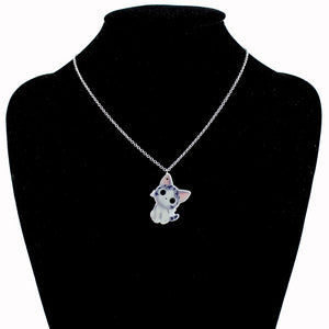 "New Fashion Girls Kids Xmas Gift Jewelry Cute Cat Pendant 16""Short Chain Necklace Free Shipping"