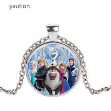 Load image into Gallery viewer, Necklace Cartoon Jewelry Girl Round Glasses Necklace Women Girls Gift For Kids silver necklace