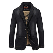 Load image into Gallery viewer, Men's denim blazer and jackets Casual Coat for men Fashion blazer jeans jacket For Gentlemen