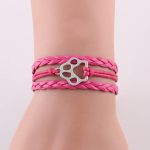 Dog paw bracelet Hobby animal dog paw charm  bangles for women dogs lovers jewelry best friends gift - moonaro