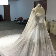 Load image into Gallery viewer, Surmount Real Sample Luxurious Full Crystal Beaded Newest Ball Gown Wedding Dress