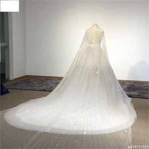 Surmount Real Sample Luxurious Full Crystal Beaded Newest Ball Gown Wedding Dress