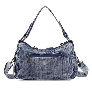 Women Fashion Bags Famous Brand Ladies Denim Handbag Blue Crossbody Bag for Women Casual Motorcycle Bag