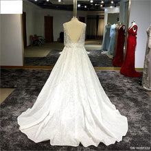Load image into Gallery viewer, Surmount Custom Made Off White Evening Dresses Sleeveless A Line Backless Alibaba China Vestido De Festa