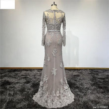 Load image into Gallery viewer, Prom Dress Real Pictures Evening Gown Long Sleeves Customized Lace Beading Dresses for Party evening dress
