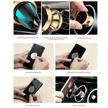 Load image into Gallery viewer, Universal Car Holder 360 Degree Magnetic Car Phone Holder GPS Stand Air Vent Magnet Mount for iPhone X 7 Xs Max Soporte