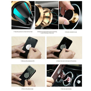Universal Car Holder 360 Degree Magnetic Car Phone Holder GPS Stand Air Vent Magnet Mount for iPhone X 7 Xs Max Soporte