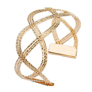 Luxury Fashion Gold Color Women's Punk Style Charm Hollow Cuff Bangle Bracelet Women Jewelry Party