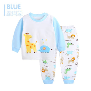 Children Clothing Set Pajamas Sets Kids Girls T-shirt Pants Kit Suit Newborn Baby Boys Clothes Set Pajamas For Boy Suits Outfits - moonaro