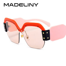 Load image into Gallery viewer, MADELINY New Square Sunglasses Women Brand Designer  Fashion Shades UV400 MA217
