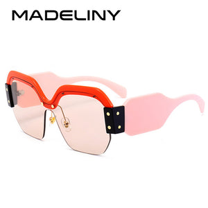 MADELINY New Square Sunglasses Women Brand Designer  Fashion Shades UV400 MA217