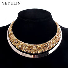 Load image into Gallery viewer, Luxury Full Crystal Choker Necklace Exaggerated  Maxi Statement Choker Collar Necklaces Bijoux Jewelry For Women