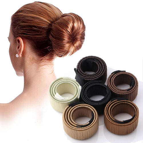 Synthetic Wig Donut Headband Women Hair Accessories Girl Magic Hair Bun Maker Bud Hair Band French Dish Twist DIY Hairstyle Tool