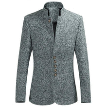 "Load image into Gallery viewer, Casual men blazer Slim Fit Men Jacket Unique Design men""s  Coat blazer jacket"