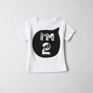1 2 3 4 5 years Birthday Christmas boy's t shirt cotton t-shirt children's clothing child's tee clothes costume for kids tops - moonaro
