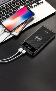 10000mah Wireless Charger Power Bank With Dual USB and Digital Display for iphone 8 X XS Max XR - moonaro