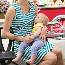 Load image into Gallery viewer, Pregnant Dress Striped Pattern breastfeeding clothes pregnancy dress Sheath Casual Nursing Dress