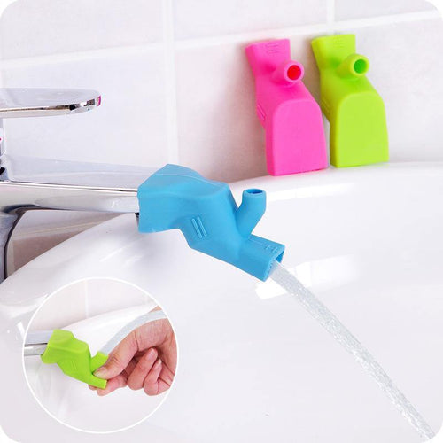 Colorful Water Faucet Extender High Elastic Soft Silicone Tap Extension Tools for Kitchen Bathroom