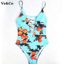 Load image into Gallery viewer, One Piece Swimsuit  Swim Wear Vintage Beach Wear Bandage Monokini Swimsuit Sexy Swimwear Women Bodysuit Bathing Suit