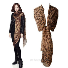 Load image into Gallery viewer, Brand New Fashion Women Long Chiffon Scarves Leopard Print Shawl All-match Lady Soft Scarf 160x60CM - moonaro