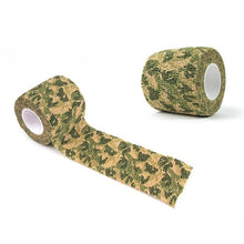 Load image into Gallery viewer, Outdoor Survival EDC Multi Tool Camping Hiking 4.5M Camouflage Tape Bandage for Bicycle Flashlight Camping Hunting Wrap