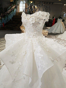 luxury wedding dresses sweetheart off the shoulder appliques ball gown beading wedding dresses real photos