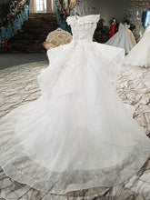 Load image into Gallery viewer, luxury wedding dresses sweetheart off the shoulder appliques ball gown beading wedding dresses real photos