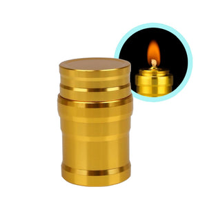 1PC Portable Metal Mini Alcohol Lamp Heating  Liquid Stoves Outdoor survival Camping Hiking Travel (Without Alcohol) - moonaro
